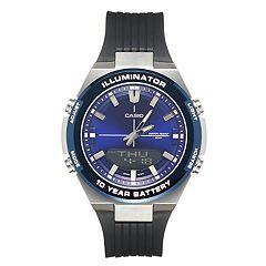 d69fe2591 Casio Men's Illuminator Stainless Steel Watch - AMW860-2AV. Black Blue