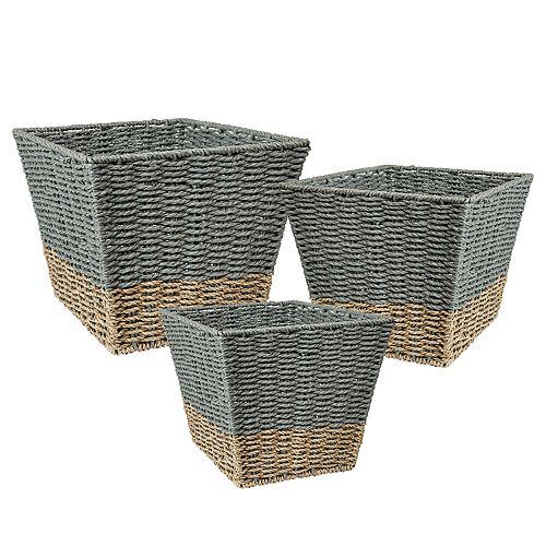 Honey-Can-Do 3-piece Nesting Basket Set