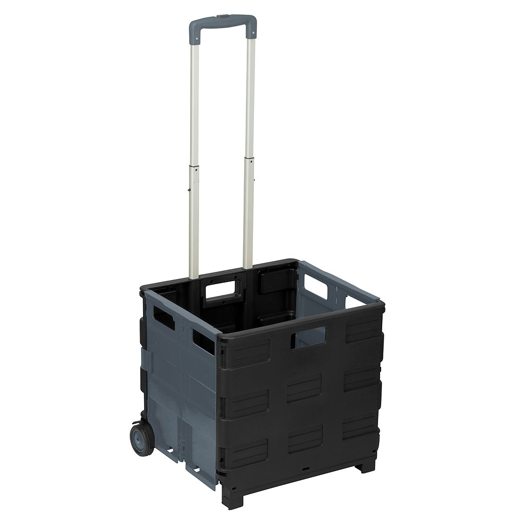 Honey-Can-Do Fold-Up Rolling Storage Cart