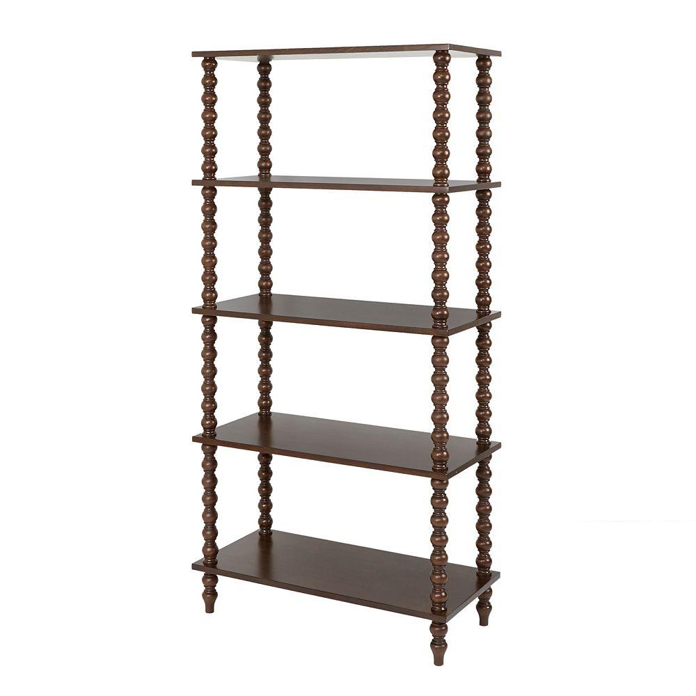 Madison Park Beckett 4-Shelf Bookcase