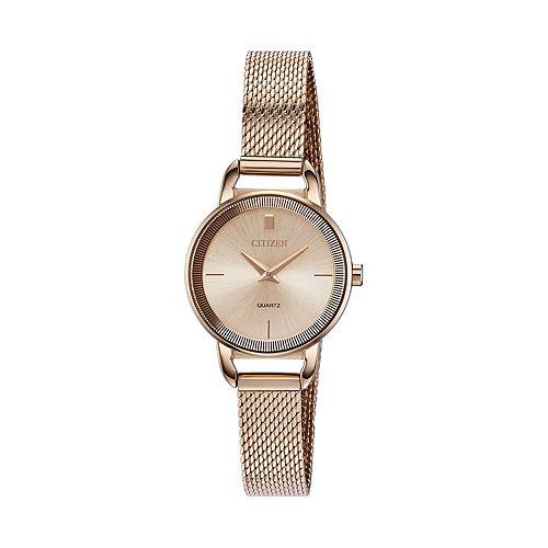 Citizen Women's Rose Gold Tone Stainless Steel Mesh Watch - EZ7003-51X