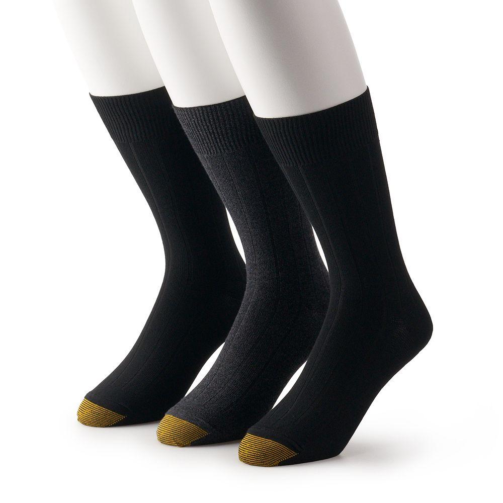 Men's GOLDTOE® 3-pack Nantucket Crew Dress Socks
