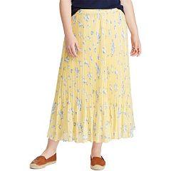 Women's Chaps® Pleated Georgette Skirt