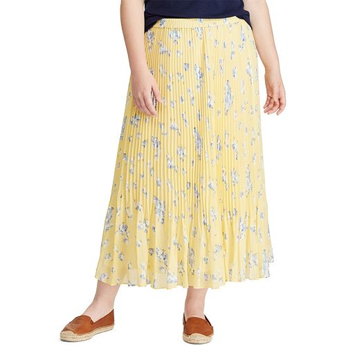 4fc66f17a Plus Size Chaps Pleated Georgette Skirt