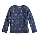 Girls 4-12 Jumping Beans® Print Softest Fleece Pullover