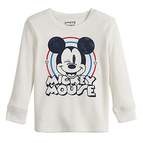 Toddler Boy Disney Jumping Beans© Mickey Mouse Long-Sleeved Thermal Crewneck Tee