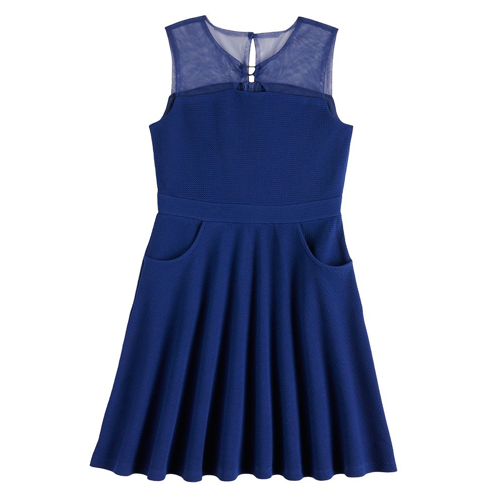 Girls 7-16 Lavender Blush By Us Angels Textured Knit Skater Dress