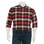 Big & Tall Croft & Barrow® Extra-Soft Flannel Button-Down Shirt