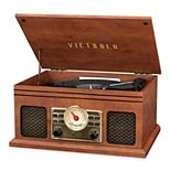 Victrola 4-in-1 Nostalgic Bluetooth Record Player & FM Radio