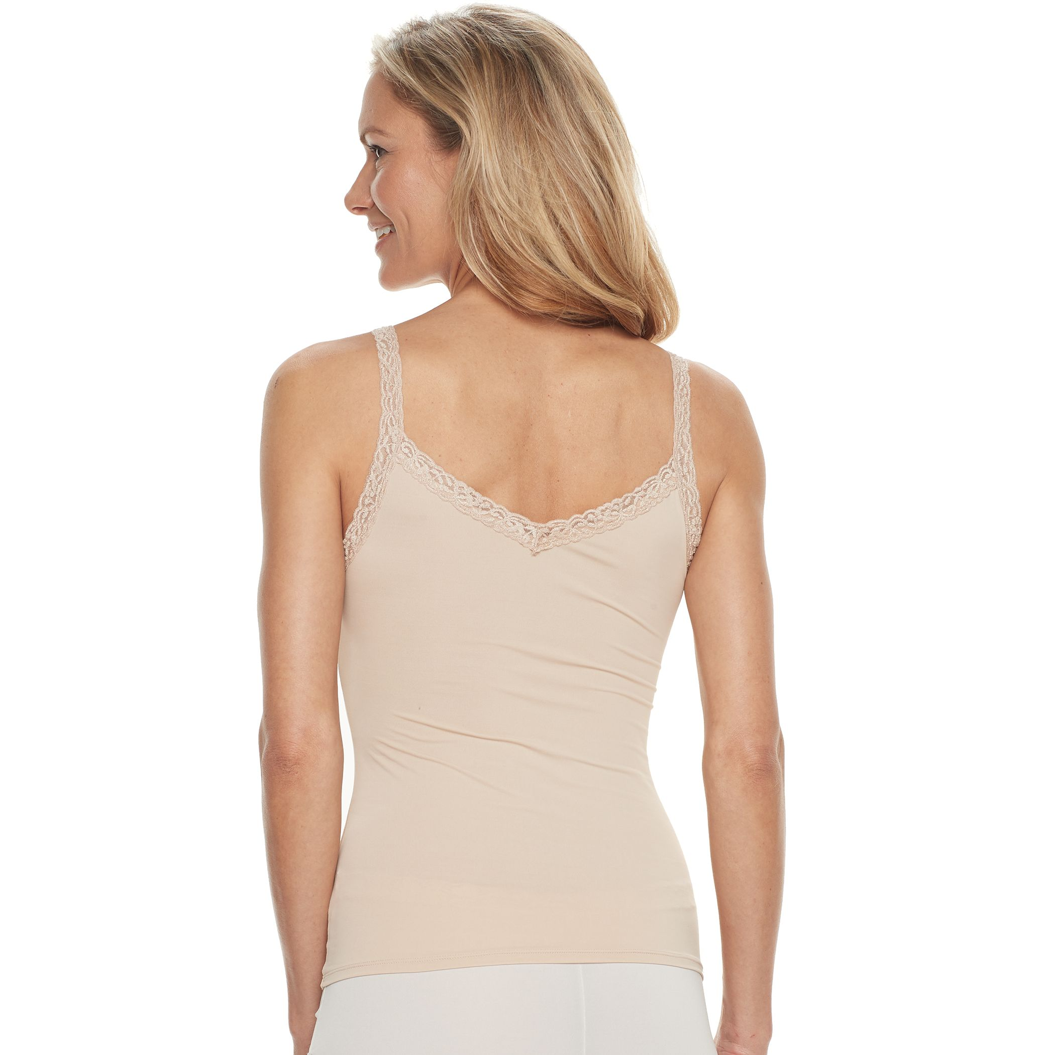 85083aa9360d6 Womens White V-Neck Camisoles Clothing