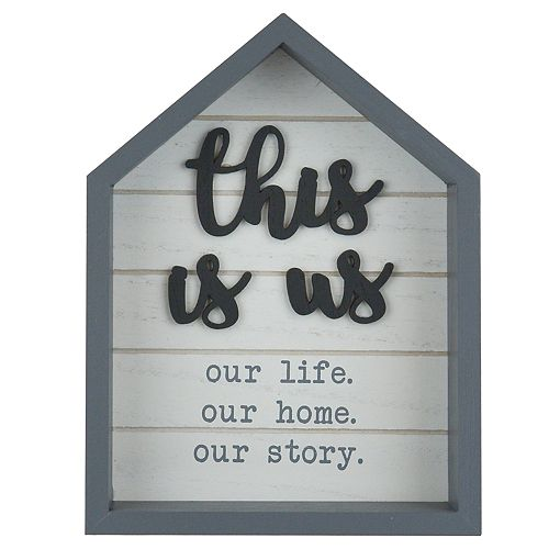 "Belle Maison ""This Is Us"" Tabletop Decor"