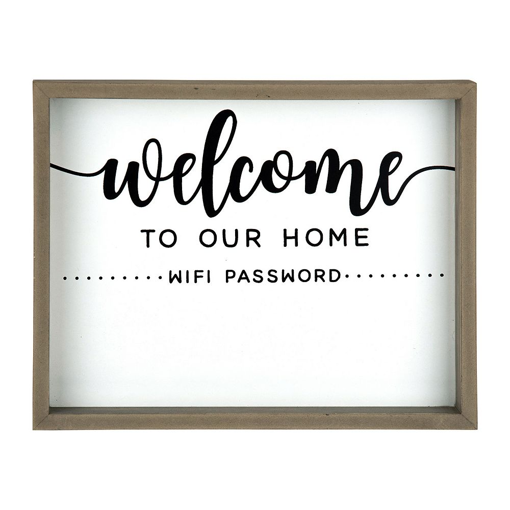 Belle Maison Tabletop Dry Erase Wifi Sign