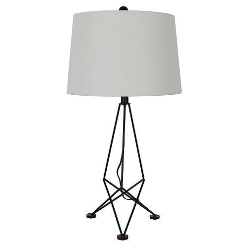 Decor Therapy Kiev Metal and Wood Table Lamp