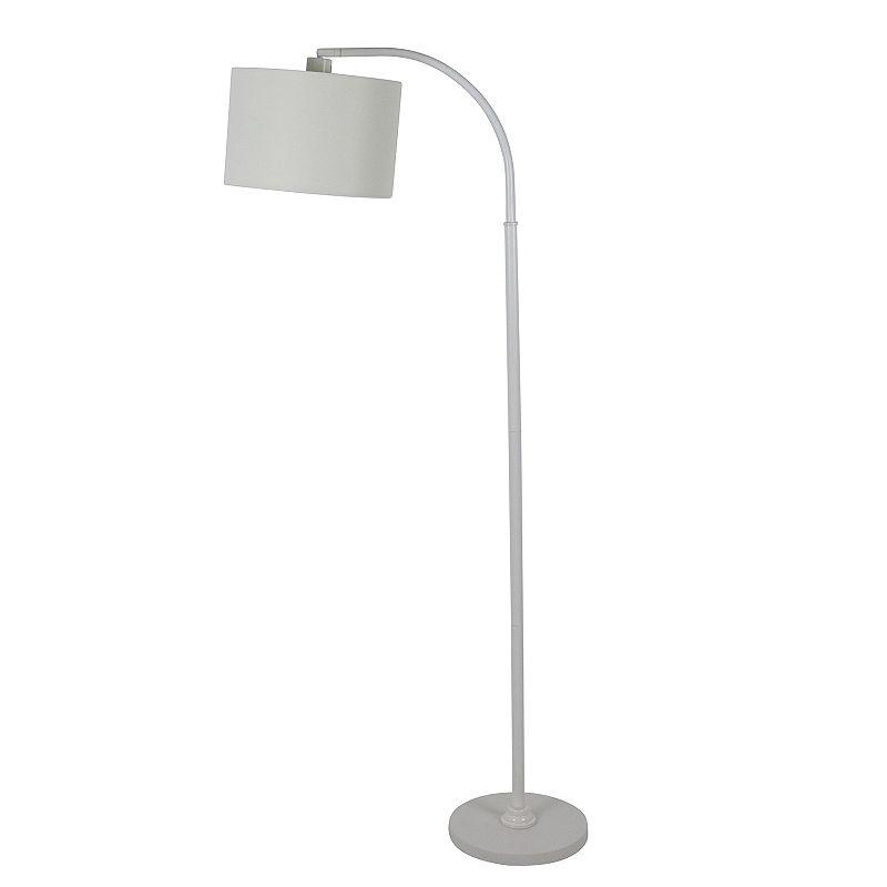 Asher Arc Floor Lamp, White