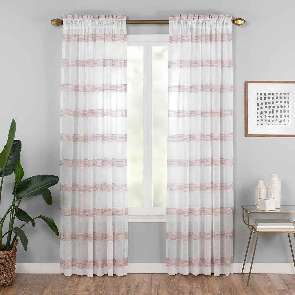 Vue Elements 1-panel Kyoto Semi-Sheer Window Curtain