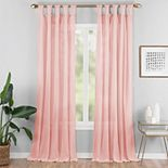 Vue Elements 1-panel Priya Semi-Sheer Window Curtain