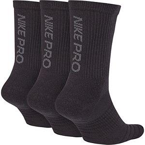 Men's Nike 3-pack Pro Everyday Max Cushioned Crew Socks