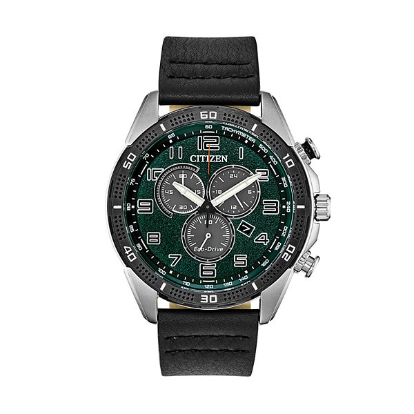 Drive from Citizen Eco-Drive Men's Leather Chronograph Watch - AT2441-08X