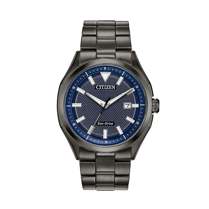 Drive from Citizen Eco-Drive Men's WDR Ion-Plated Stainless Steel Watch - AW1147-52L, Size: Large, Black
