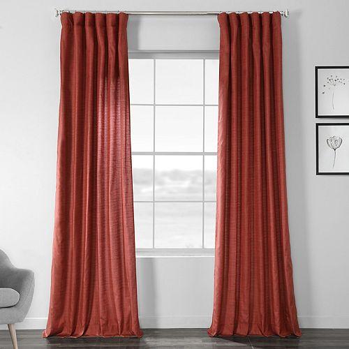EFF Faux Shantung Silk Window Curtain