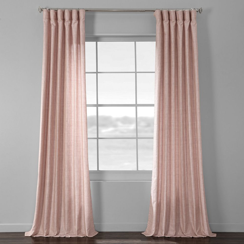 EFF Faux Raw Silk Window Curtain