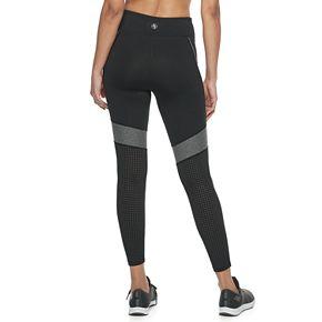Women's Adrienne Vittadini Colorblock Lasercut Leggings