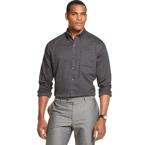 Men's Van Heusen Flex Classic Fit Non-Iron Striped Button-Down Shirt