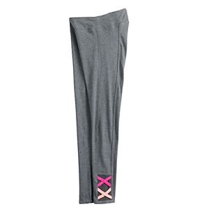 Girls 7-16 SO® High Rise Criss Cross Performance Leggings