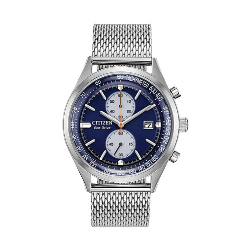 Citizen Eco-Drive Men's Chandler Stainless Steel Mesh Watch - CA7020-58L