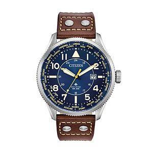Citizen Eco Drive Men S Brycen Leather Chronograph Watch Ca0649 14e