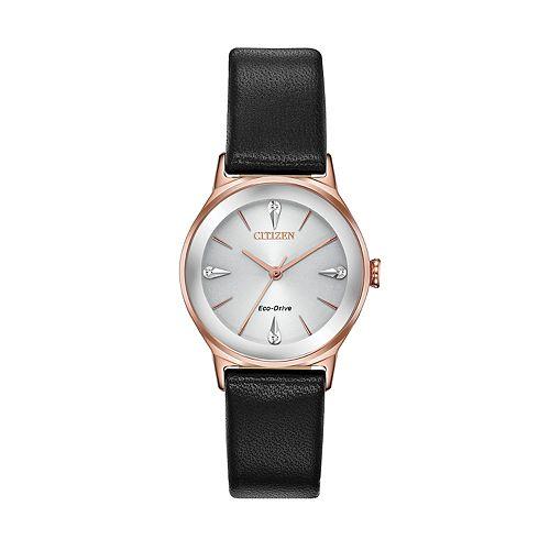 Citizen Eco-Drive Women's Axiom Diamond Accent Leather Watch - EM0733-08A