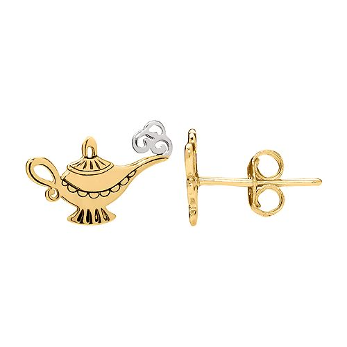 Disney's Aladdin Genie Lamp Stud Earrings