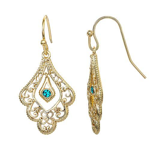Disney's Aladdin Crystal Dangle Earrings