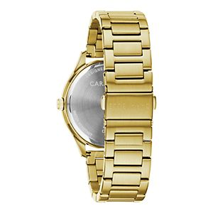 Caravelle by Bulova Men's Dual Time Gold Tone Watch - 44C111