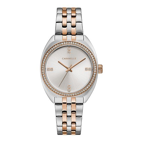 Caravelle by Bulova Women's Two-Tone Crystal Watch - 45L180
