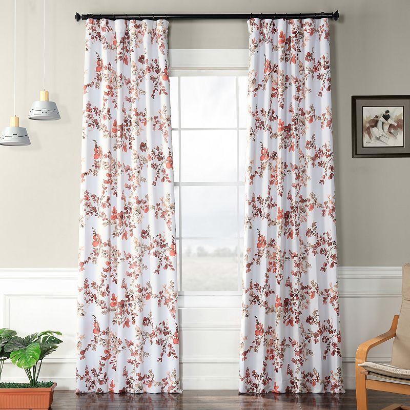 EFF Elm Blackout Window Curtain, Pink, 50X120