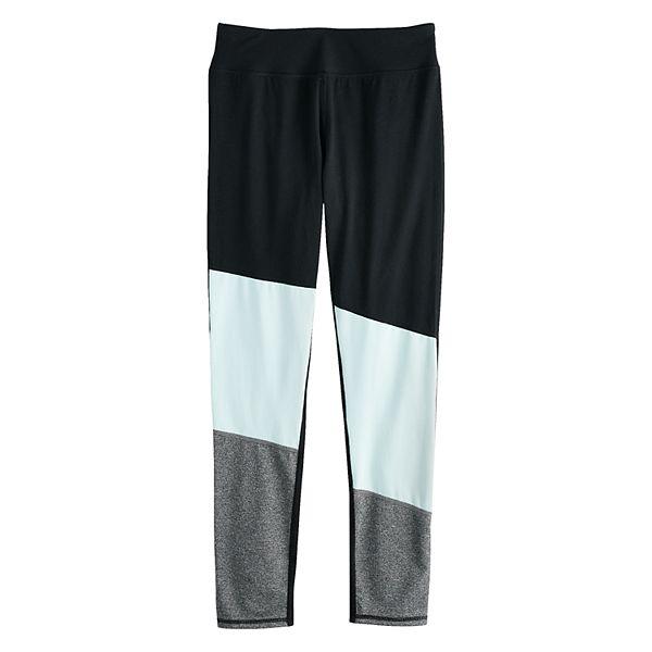 Girls 7-16 SO® High Rise Asymmetrical Colorblock Performance Leggings