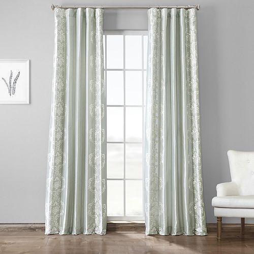 EFF Trophy Embroidered Faux Silk Taffeta Window Curtain