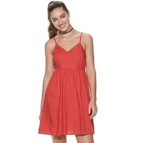 Juniors' SO® Rayon Woven Dress