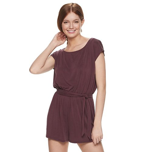 Junior's Mudd® Slouchy Belted Romper