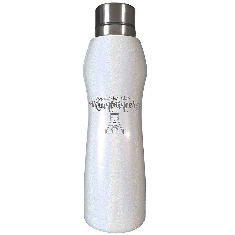 Appalachian State Mountaineers Opal Finish Hydration Water Bottle, White