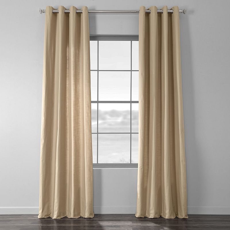 EFF Solid Country Window Curtain, Brown, 50X108
