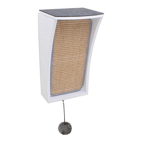 Hauspanther CATchall Wall Mounted Cat Scratcher, Toy Storage & Perch