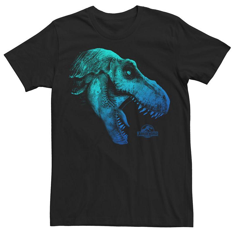 Men's Jurassic World Fallen Kingdom Neon T-Rex Graphic Tee, Size: XXL, Black