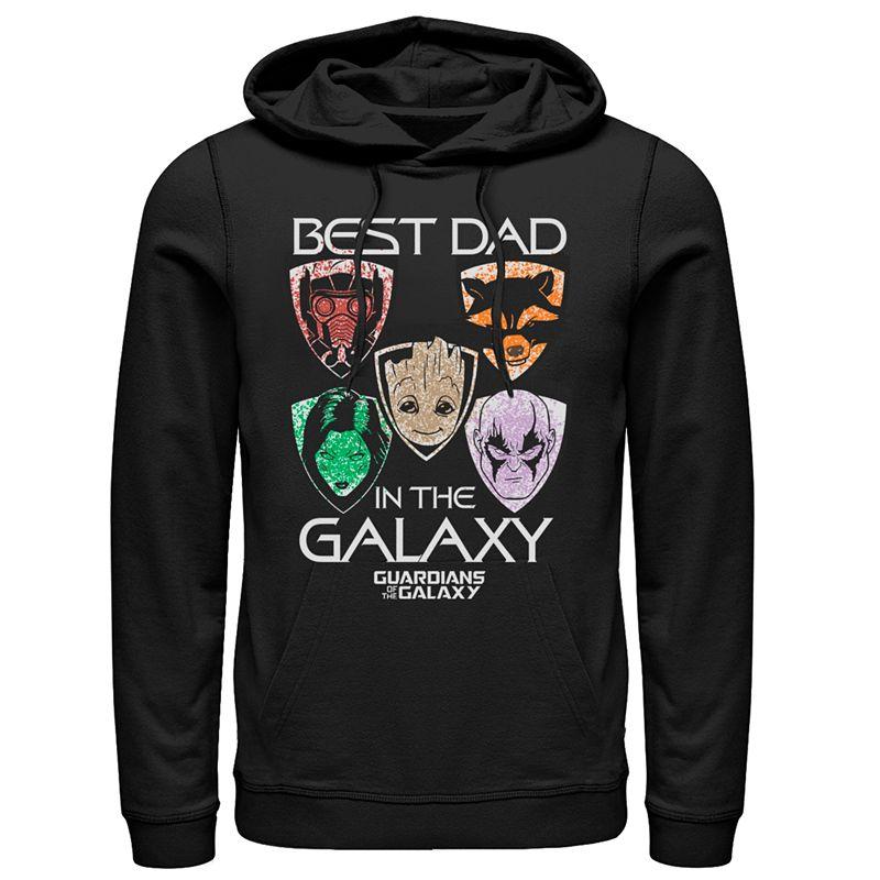 Men's Marvel Guardians Of The Galaxy Best Dad Hoodie, Size: XXL, Black