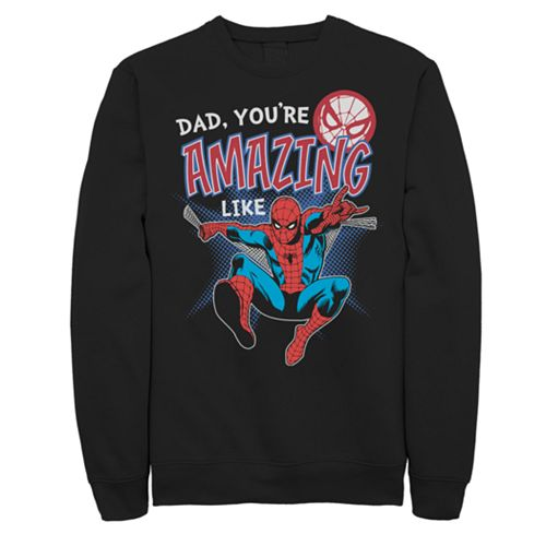 Men's Marvel Dad Amazing Like Spider-Man Fleece