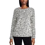 Women's Chaps Leaf Stitch Boatneck Sweater