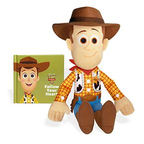 Kohl's Cares Disney / Pixar Toys Story 4 Woody Plush and Book Bundle