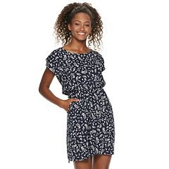 aabdcb0d40d4 Juniors' Pink Republic Bar Back Skater Dress. Navy White Ditsy Black ...