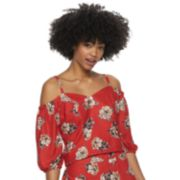 Juniors' Live To Be Spoiled Cold Shoulder Top